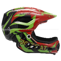 Велошлем Full Face Raptor RED/BLACK/GREEN